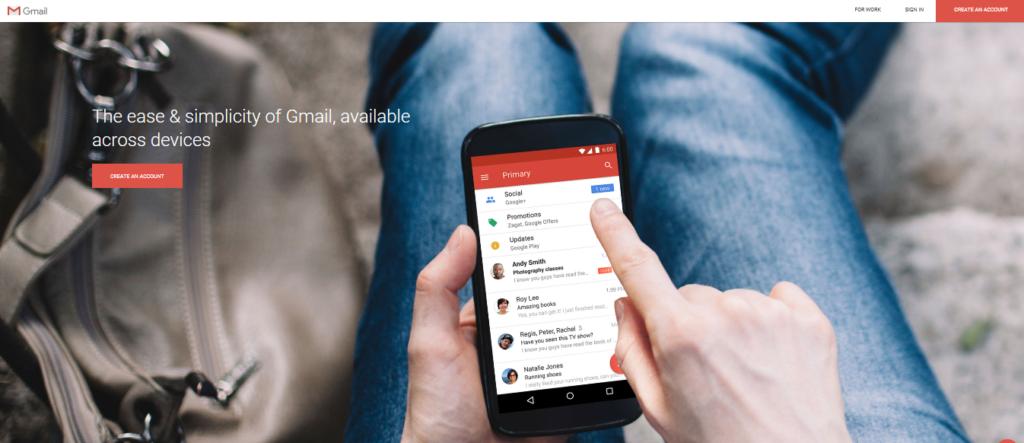 Gmail.com Homepage
