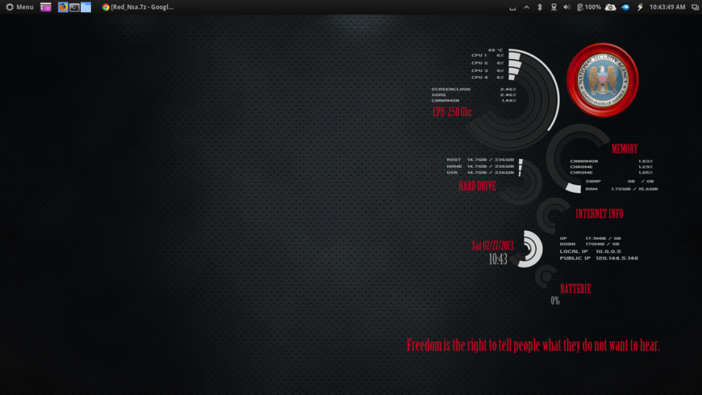 Red NSA Conky Theme