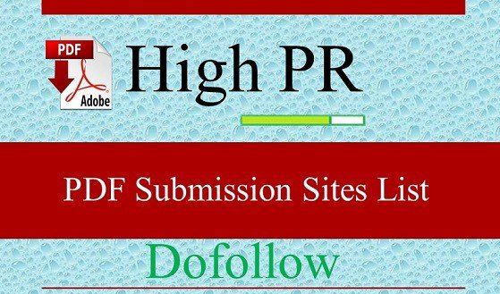 High DA High Quality PDF Submission Websites for Building Backlinks for SEO