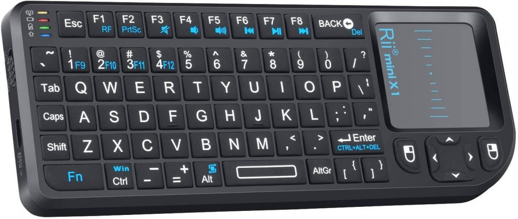 Rii 2.4G Mini Wireless Keyboard with Touchpad Mouse