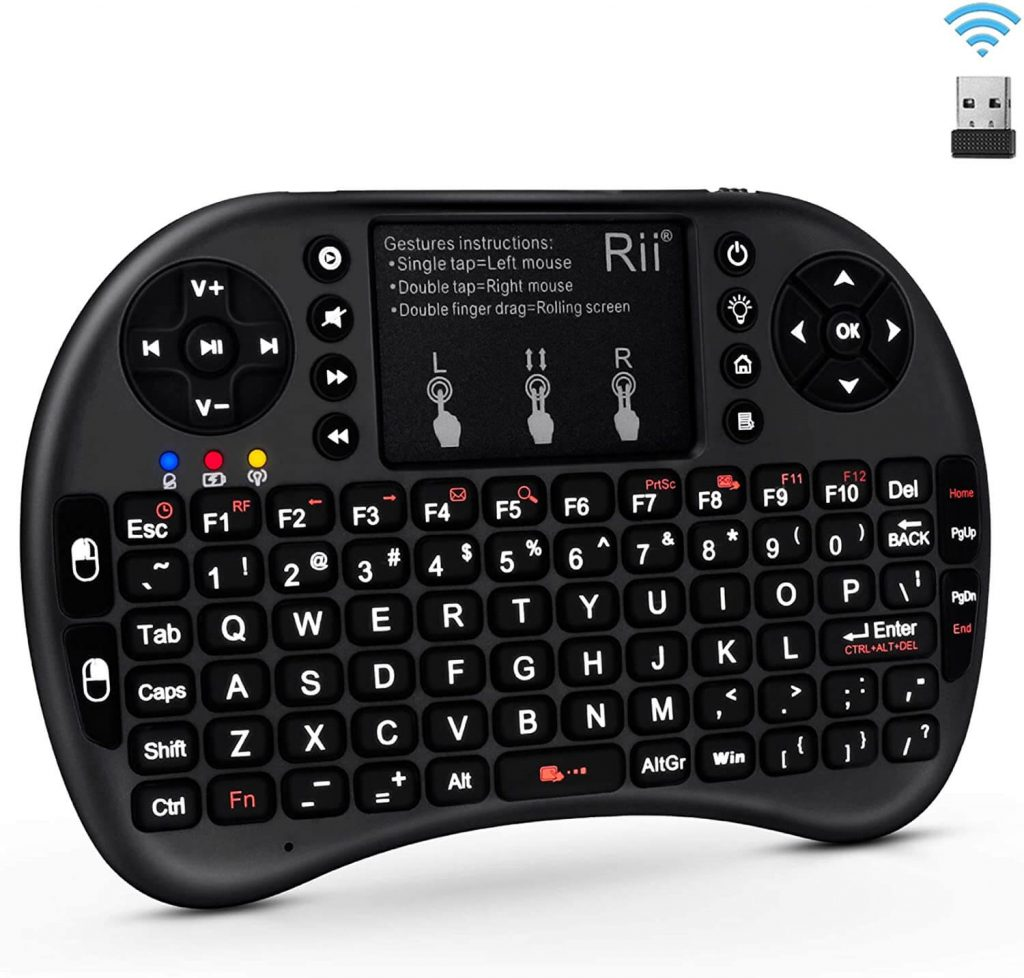 Rii i8+ LED Backlit Mini Wireless Keyboard